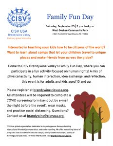 2021 Family Fun Day flyer
